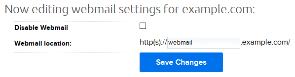 disable webmail