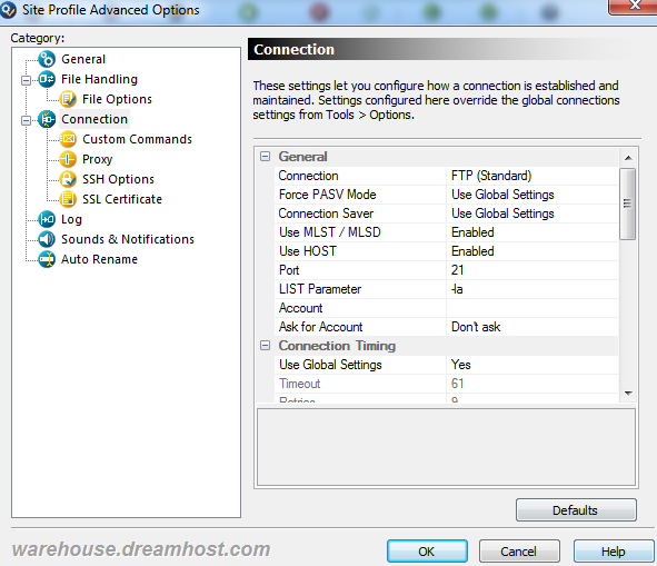 How do I show hidden files on my FTP client? – DreamHost