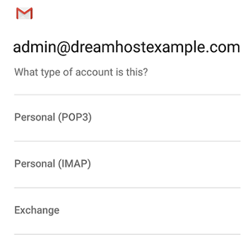 How to configure email on an Android phone – DreamHost