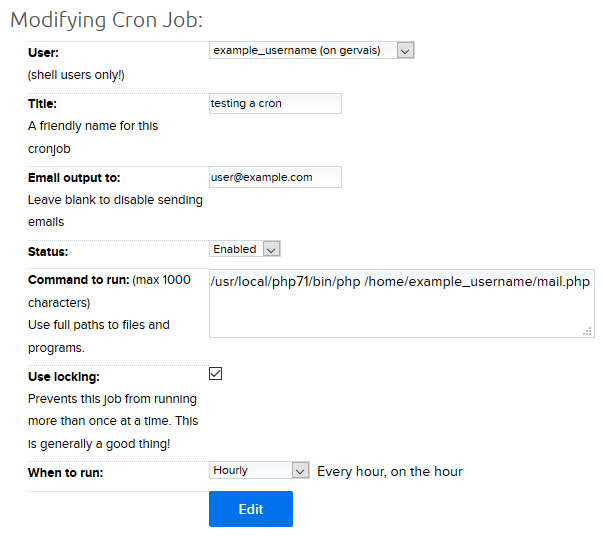 Crontab overview – DreamHost
