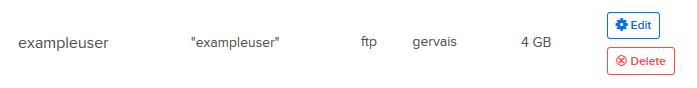 Change FTP user