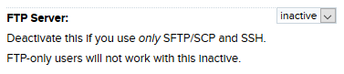 Disable FTP