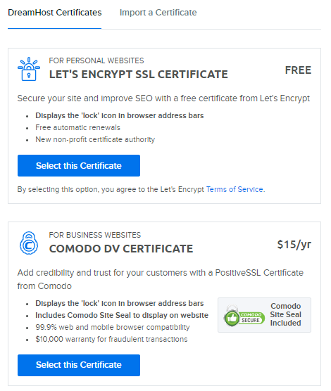 Changing your current SSL certificate into a Let's Encrypt or