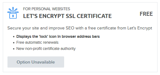 Adding a free Let's Encrypt certificate – DreamHost