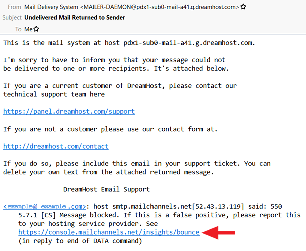 Reporting false-positive spam email in MailChannels – DreamHost