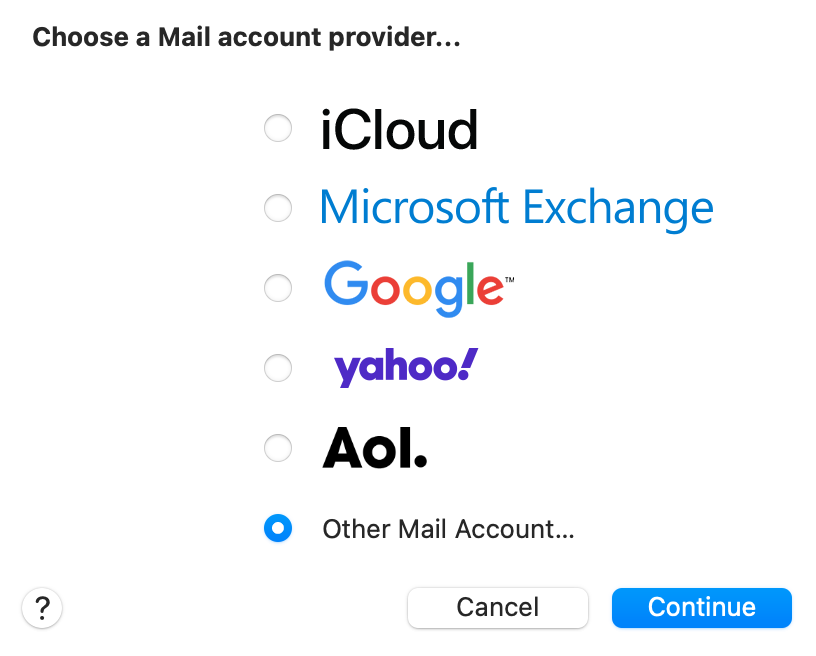 Mac Mail add email