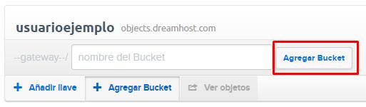 DreamObjects Buckets