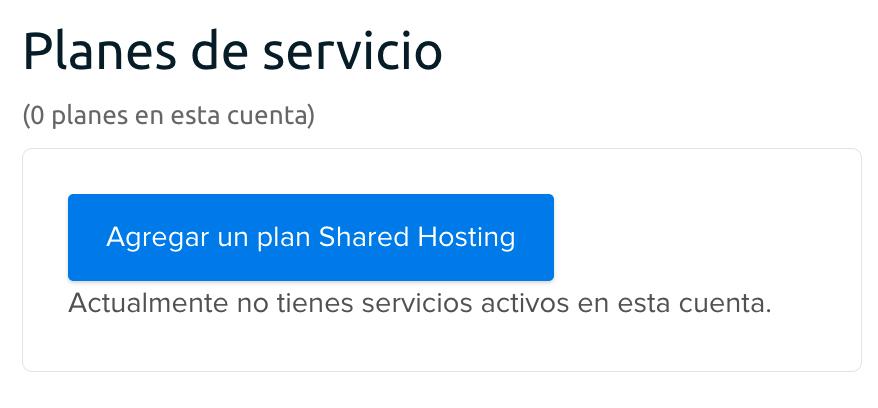 Add hosting plan