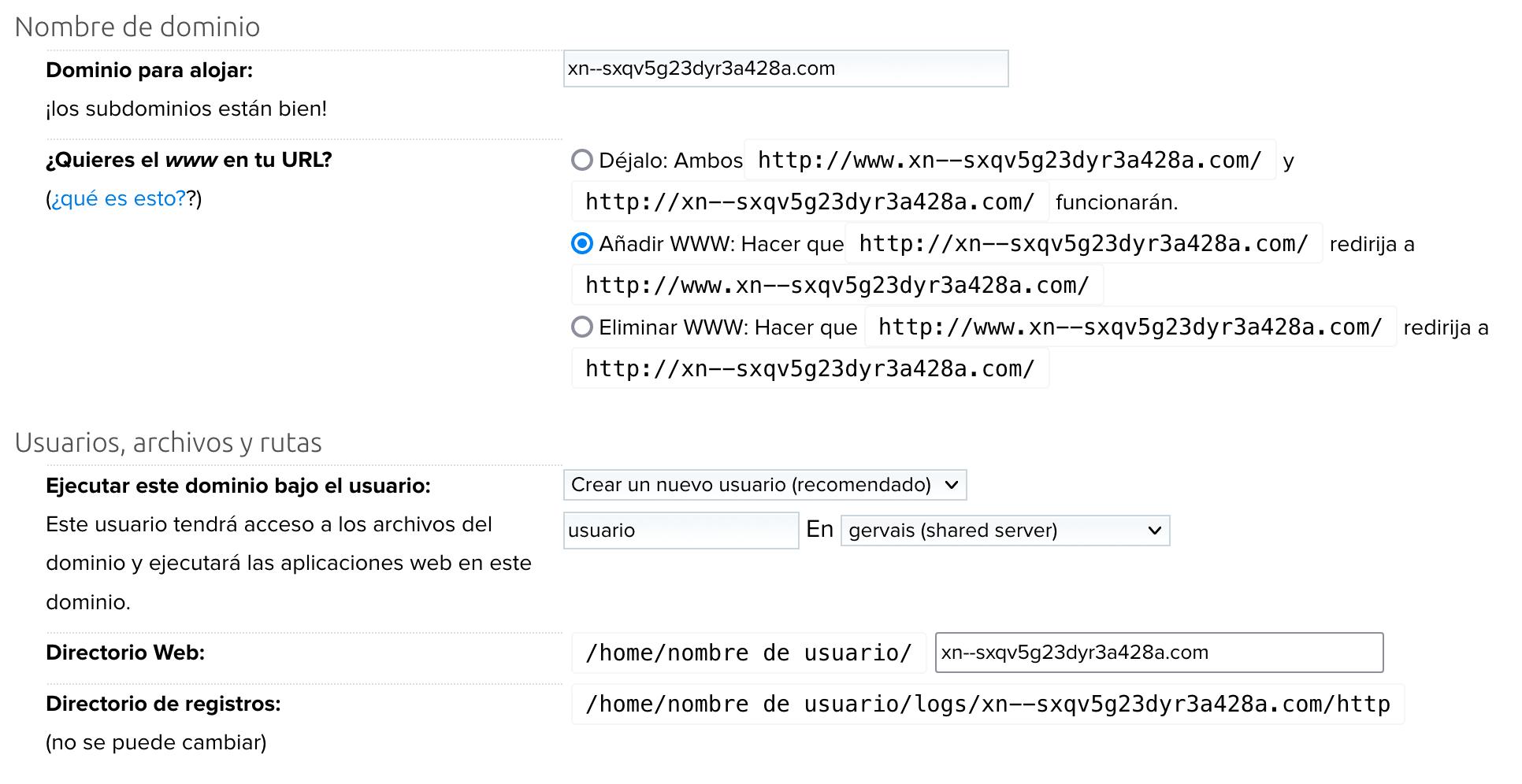 Add punycode domain