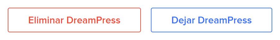 DreamPress Migrate/Delete buttons