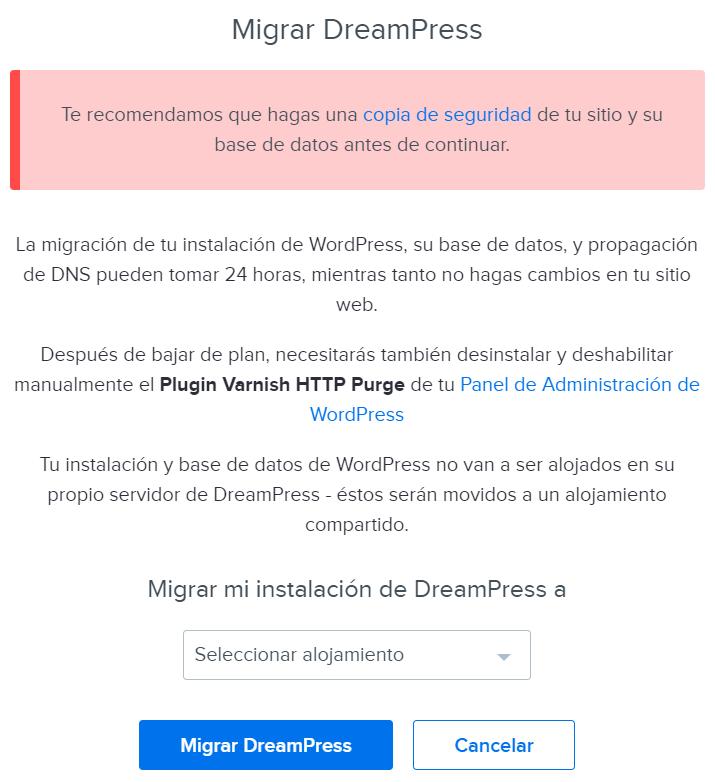 Downgrade Dreampress