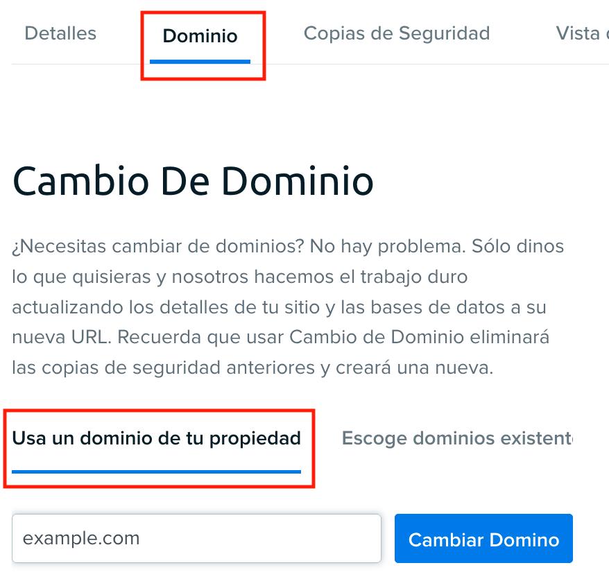 DreamPress domain