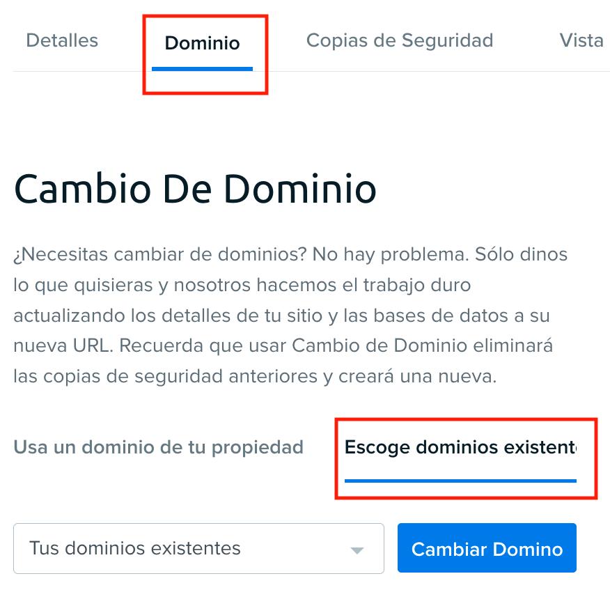 Dreampress change domain