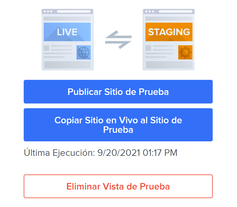 Publish staging site