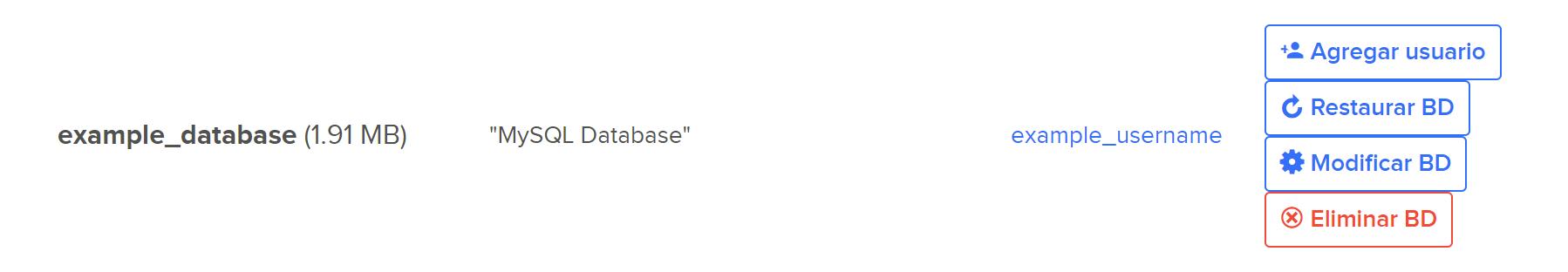 Delete database user