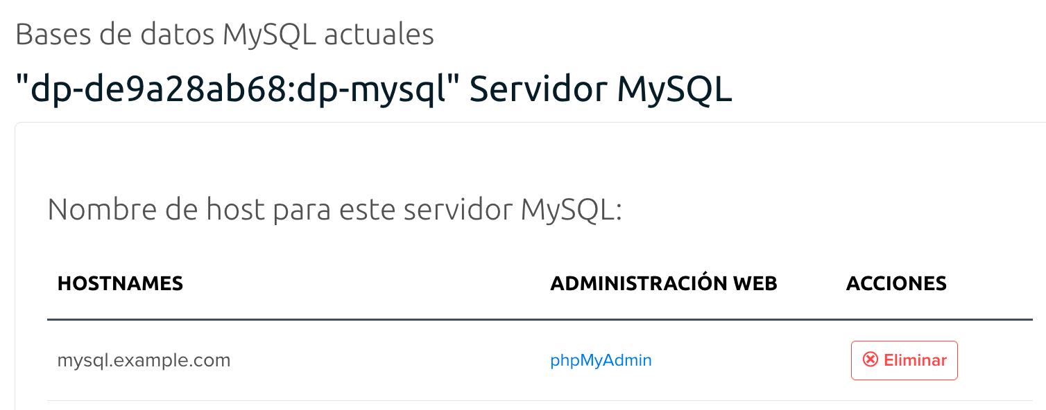 MySQL DreamPress server