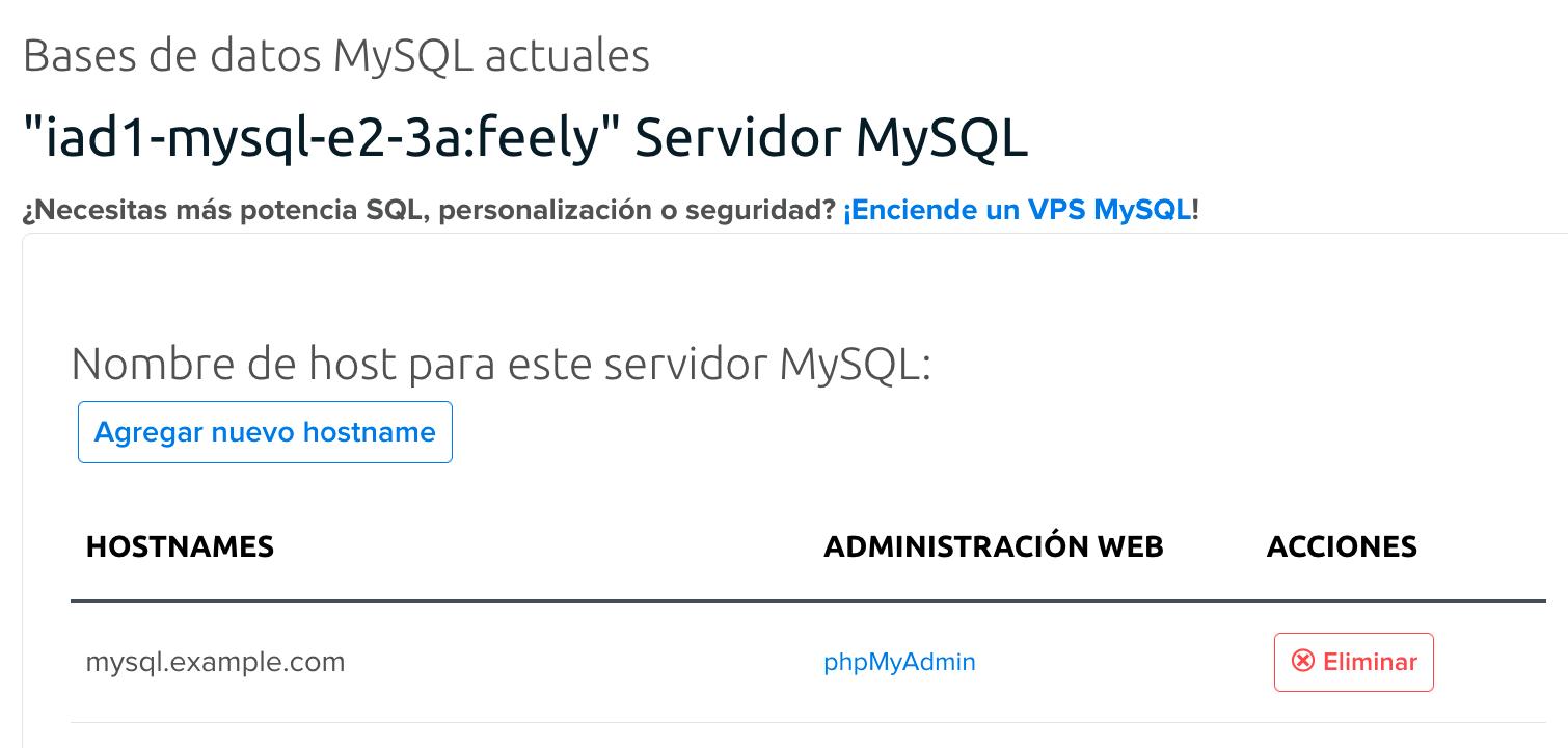 MySQL shared server