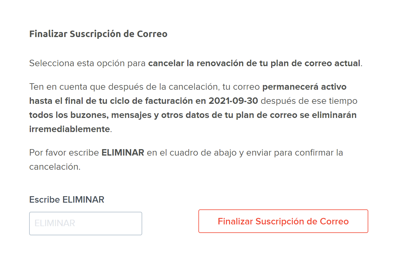 cancel mail subscription