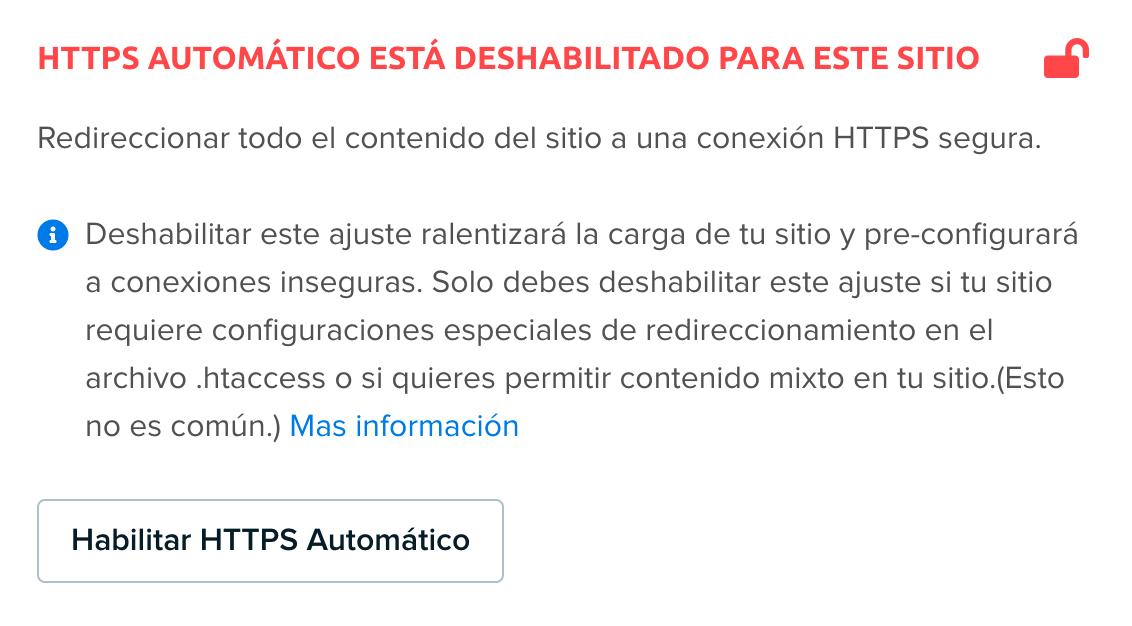 SSL redirect disabled