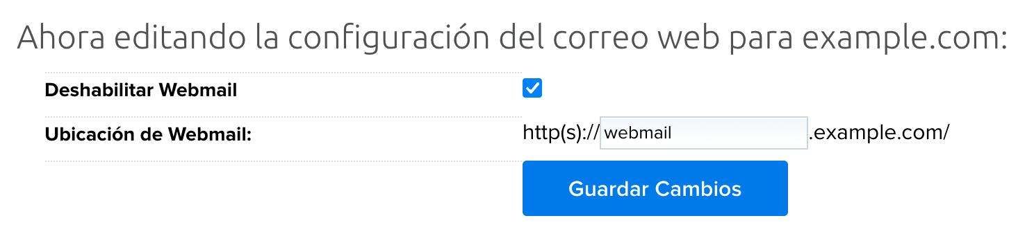 webmail edit settings
