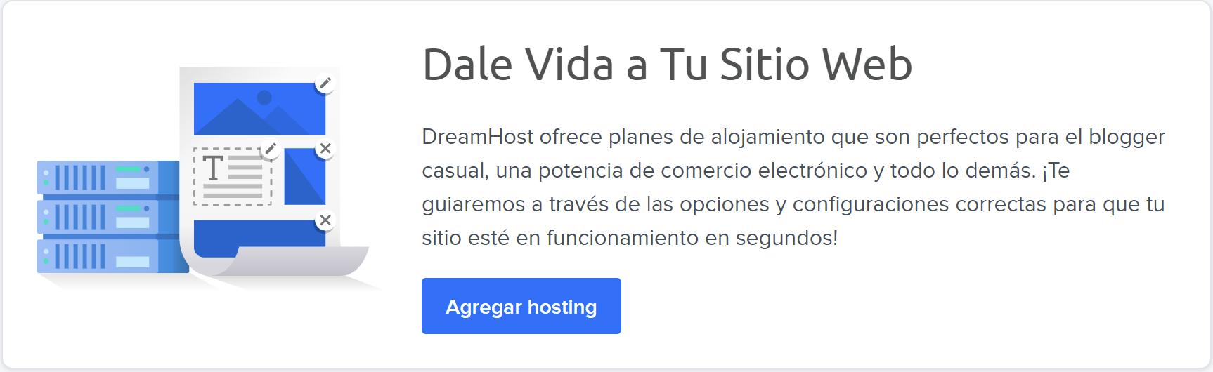 Add Hosting