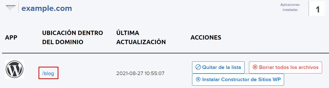 Subdirectory install