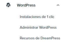 es panel wordpress dropdown