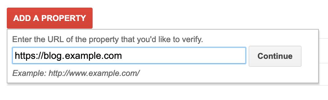 Google verification add CNAME