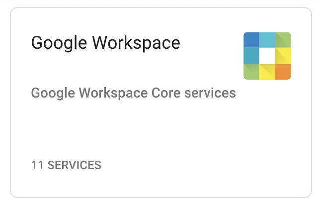 Google Workspace services