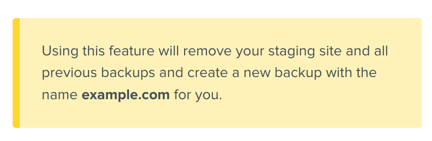 DreamPress change domain warning