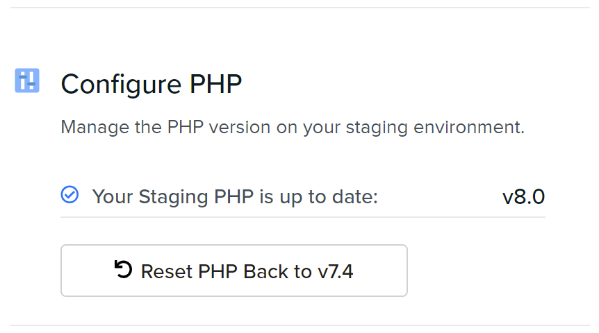 upgrading staging php