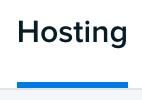 Manage Domains Hosting tab