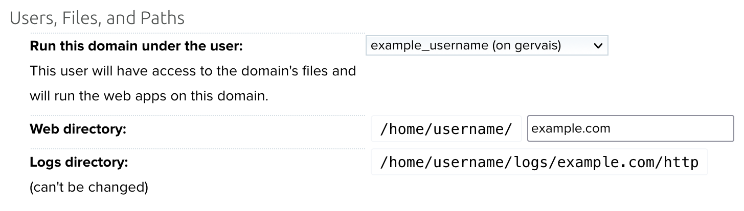Manage Domains Web Directory