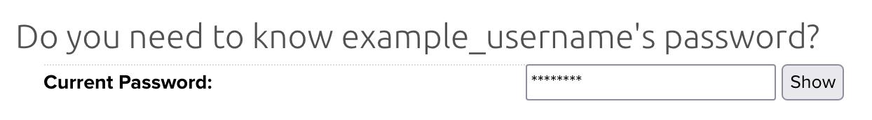 Database username change password