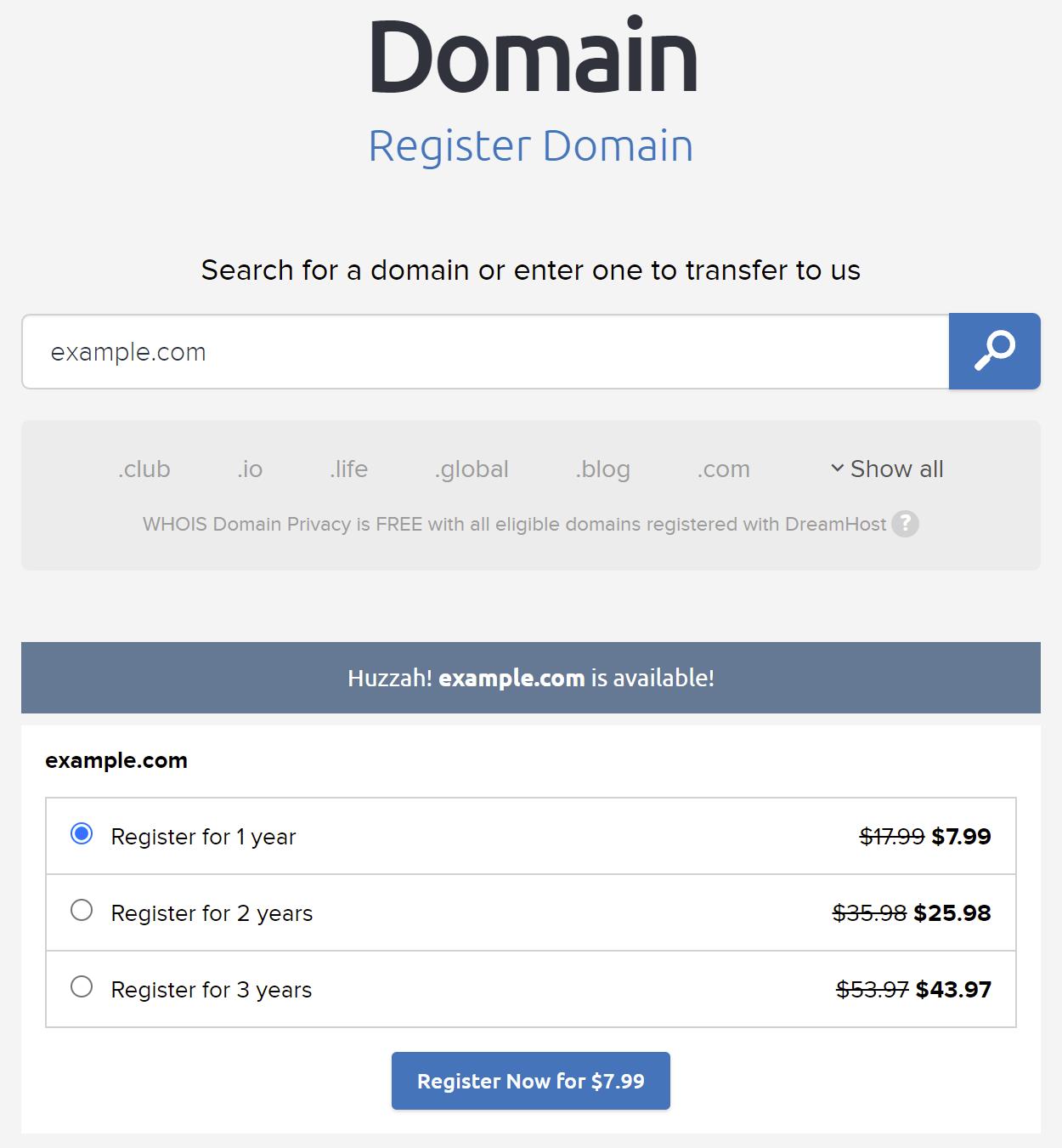 Signup - Domain Registration