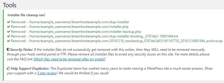 Duplicator_plugin_remove_install_files