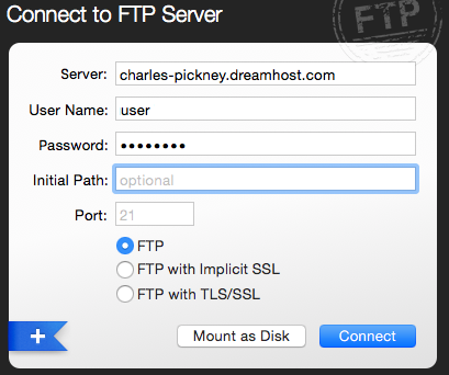 FTP Transmit connection screen.png
