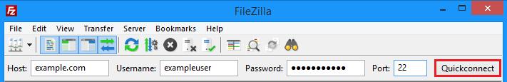 Filezilla connect