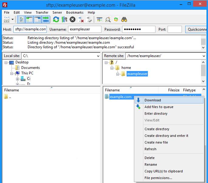 linux download folder from url