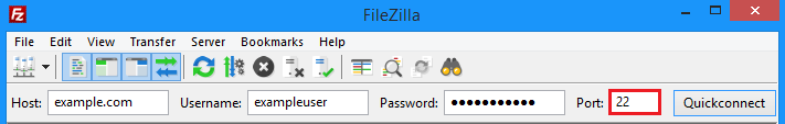Filezilla password