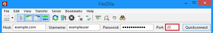 Filezilla password