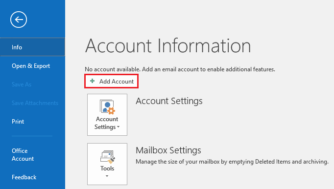 Outlook 2016 configuration – DreamHost