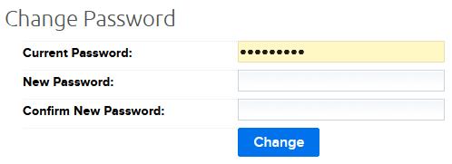 change password