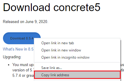 concrete5 download