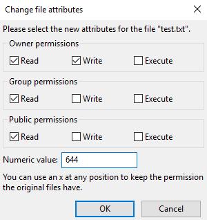 UNIX commands — Changing permissions – DreamHost