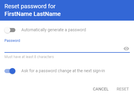 enter g suite user password