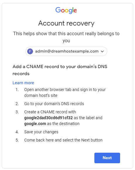g suite recovery