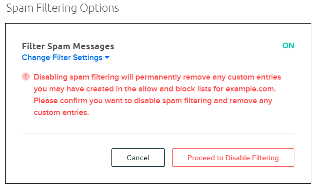 disable filter