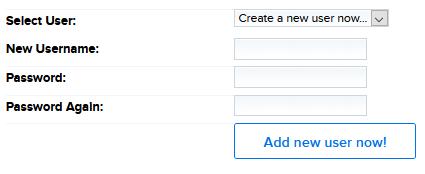 Add database user