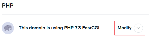 Modify PHP version